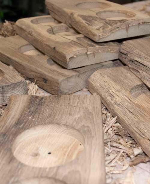 unbehandeltes Holz, Menagen in der Fertigung