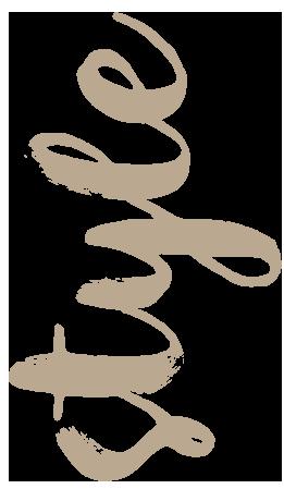 Schriftzug Style hochkant