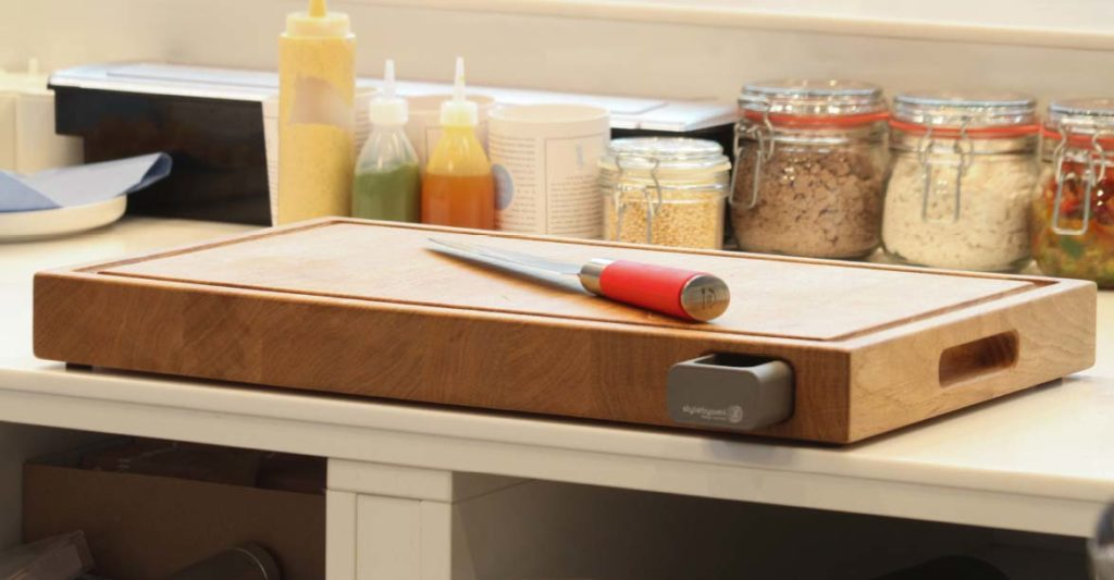 cutting board wood with drawer