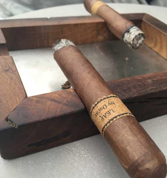 Aschenbecher Holz Zigarre